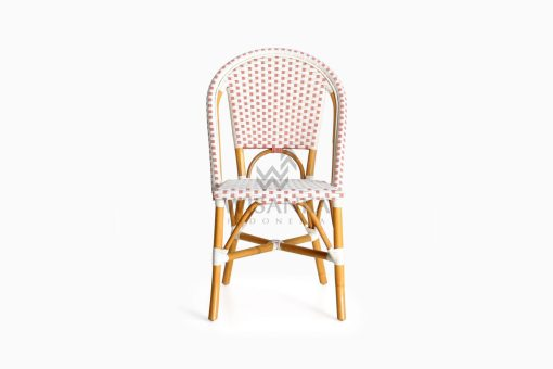 Farah Dining Arm Wicker Bistro Chair front