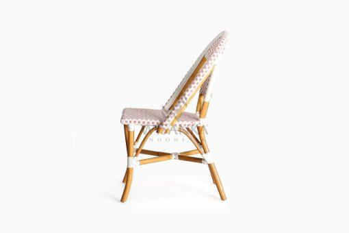 Farah Dining Arm Wicker Bistro Chair side
