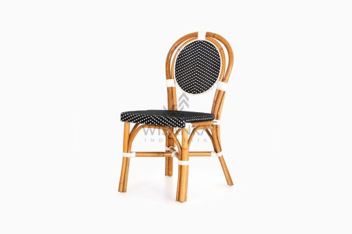 Iry Dining Arm Wicker Bistro Chair perspective