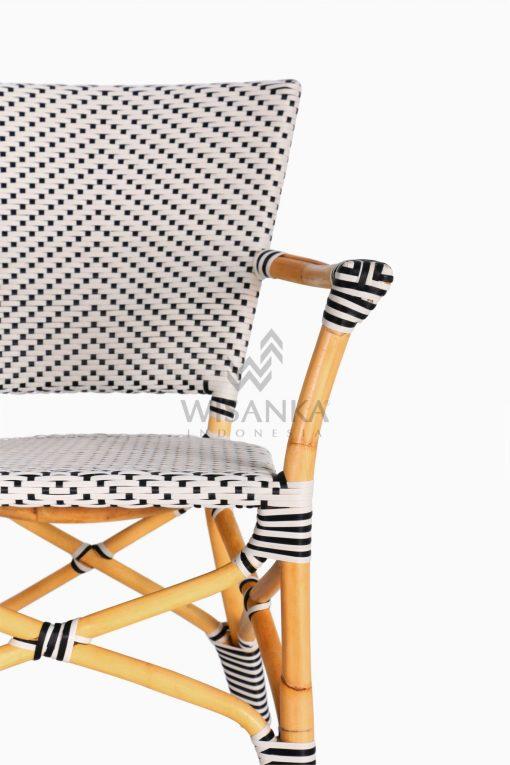 Lucky Bistro wicker rattan Chair detail