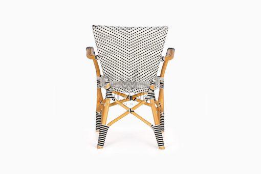 Lucky Bistro wicker rattan Chair rear