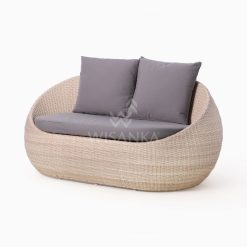Carmo Wicker Occasional Chair 2 Seater perspective