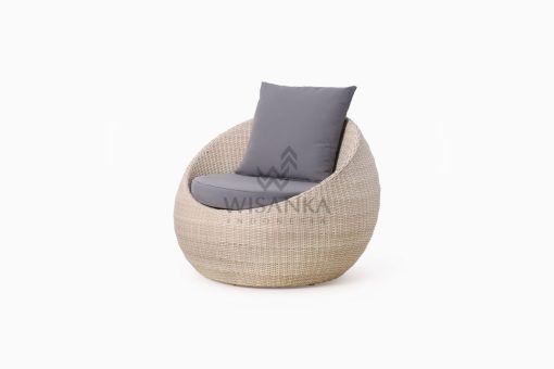 Carmo wicker occasional chair 1 Seater perspective