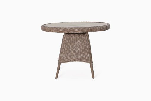 Flora Outdoor Wicker Dining Table front