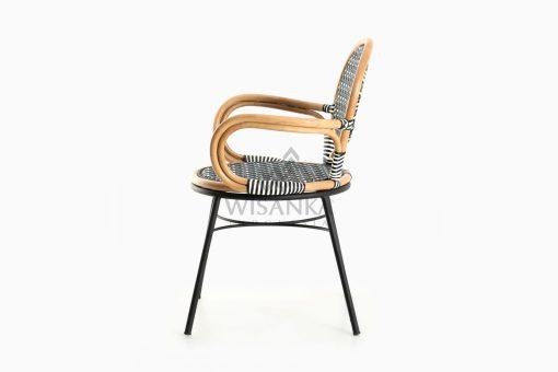 Aira Bistro Chair, Wicker Rattan Chair side