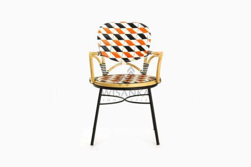 Kiku Rattan Outdoor Bistro Chair front