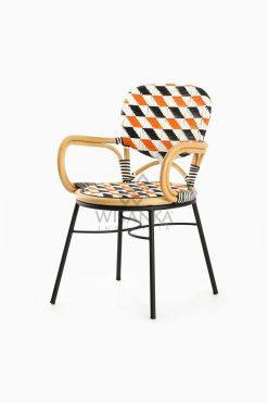 Kiku Rattan Outdoor Bistro Chair perspective