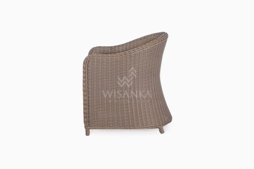 Molde Outdoor Rattan Patio Arm Chair side
