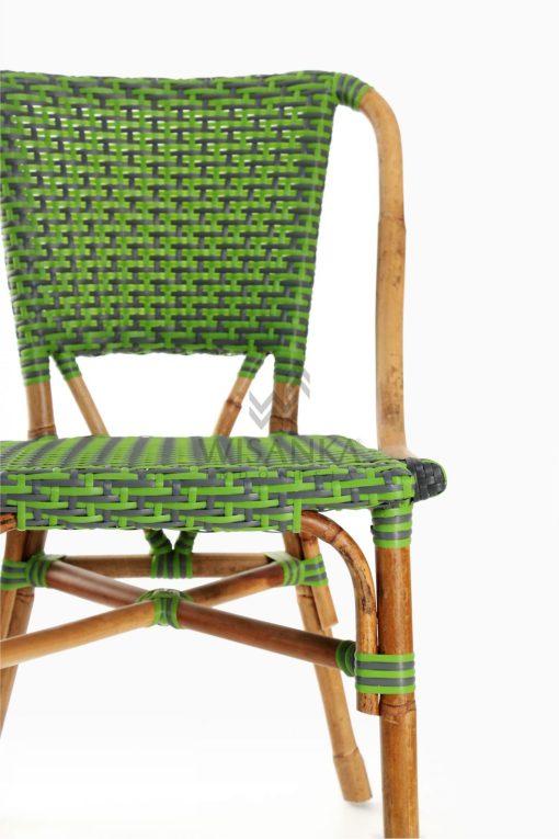 Yori Outdoor Rattan Bistro Chair Detail 1