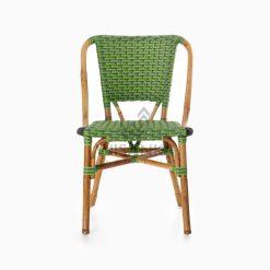 Yori Outdoor Rattan Bistro Chair front