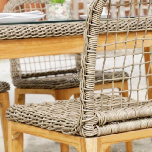 Tropical Dining Set - Outdoor Rattan Patio Furniture detail (1)