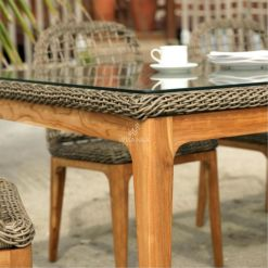Tropical Dining Set - Outdoor Rattan Patio Furniture detail (2)