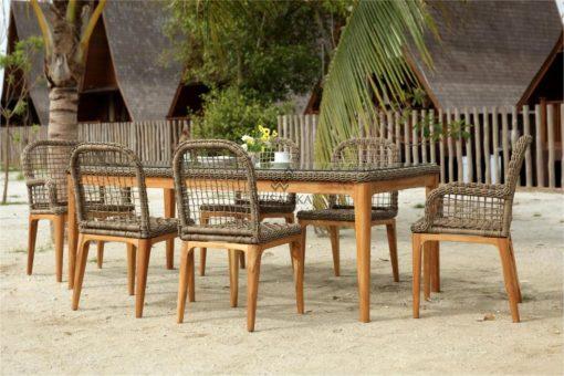 Tropical Dining Set - Outdoor Rattan Patio Furniture detail (4)