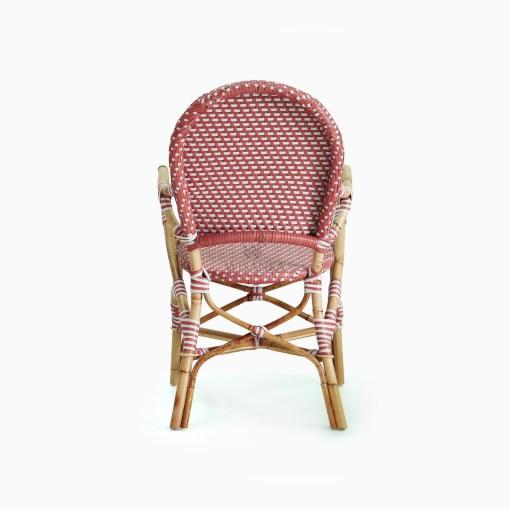 Clementine bistro chair - Rattan Garden Furniture rear