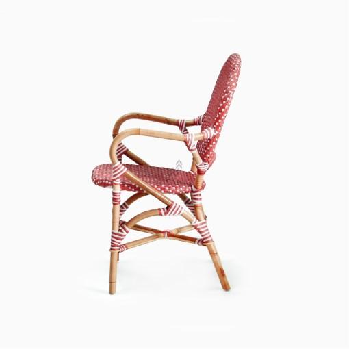 Clementine bistro chair - Rattan Garden Furniture side