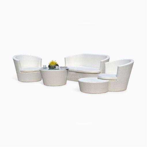 Vee Living Set - Outdoor Garden Sofa Set