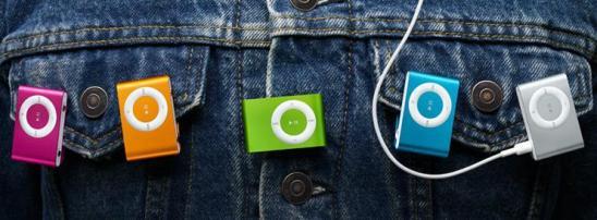 iPod shuffle colors