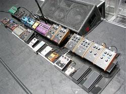 John Frusciante's Pedal Board