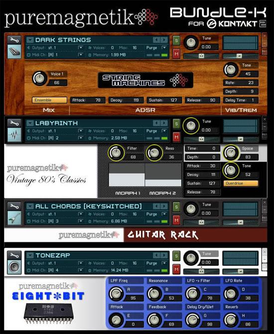 Puremagnetik Releases BUNDLE-K Sound Library for Native Instruments' Kontakt 2