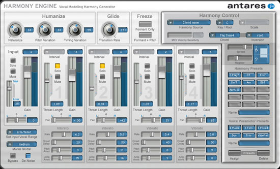 Antares release the Harmony Engine Vocal Modeling Harmony Generator for Mac and PC