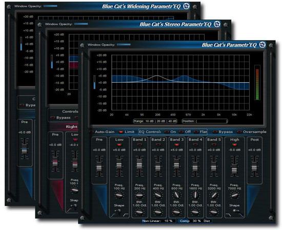Blue Cat Audio Updates Parametr'EQ Series to Version 3.1