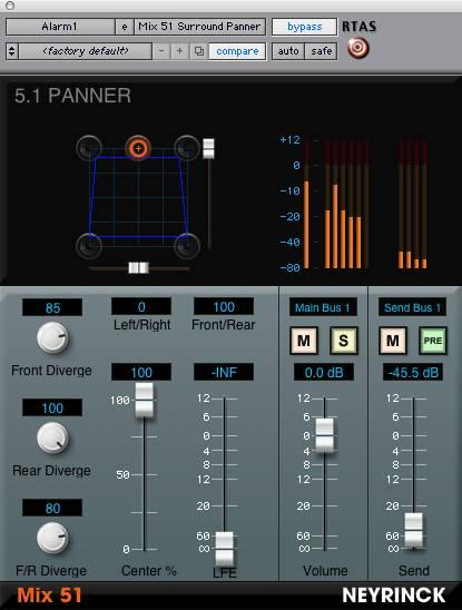 Neyrinck Intros Mix 51 Surround Panning and Mixing Plug-In for Pro Tools LE/M-Powered Systems