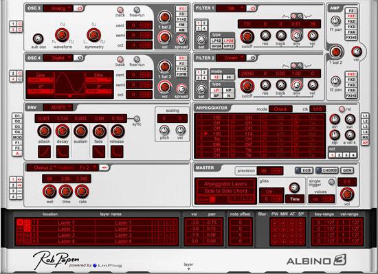 Rob Papen virtual synthesizer