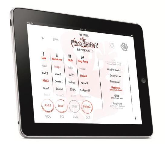 Remiix Plastikman Replikants on iPad