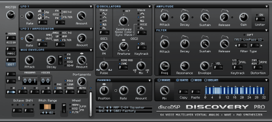Discovery Pro synthesizer
