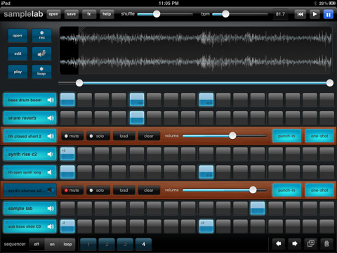 Sample Lab iPad sampling instrument
