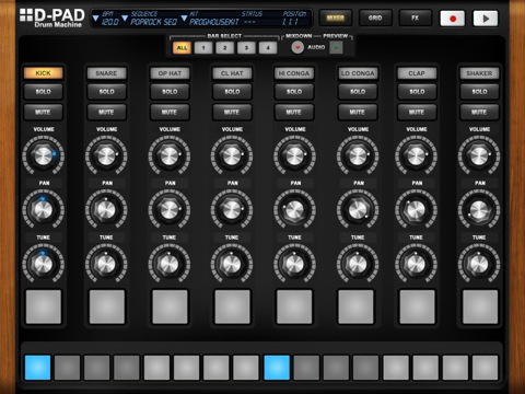 iPad drum machine