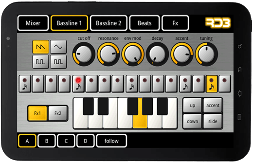 Android Tablet Virtual Music Studio