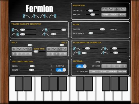 Fermion iPad Synthesizer