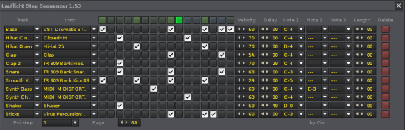 Step Sequencer Novation Launchpad