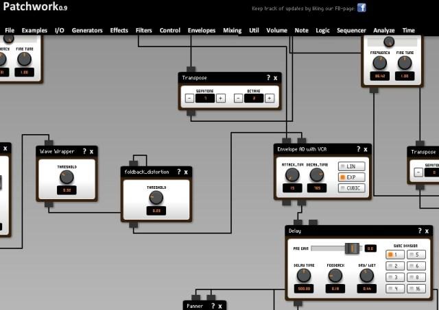 patchwork online modular synthesizer