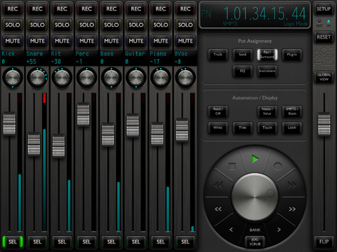 ac 7 core hd ipad daw control app now available synthtopia. Black Bedroom Furniture Sets. Home Design Ideas