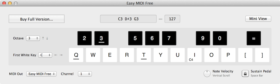 Easy MIDI Free Turns Your Mac Keyboard Into A MIDI Controller