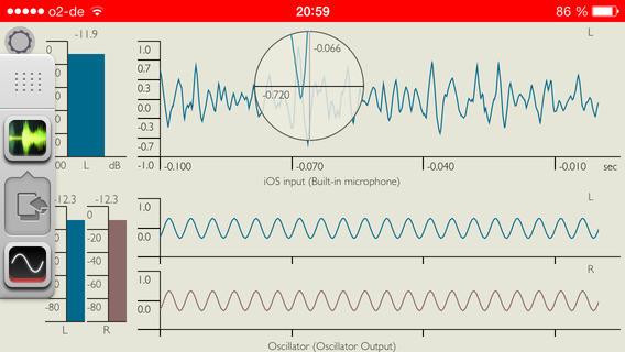 iPhone-oscilloscope