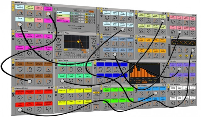 dope matrix puts a modular synthesizer into ableton live synthtopia. Black Bedroom Furniture Sets. Home Design Ideas