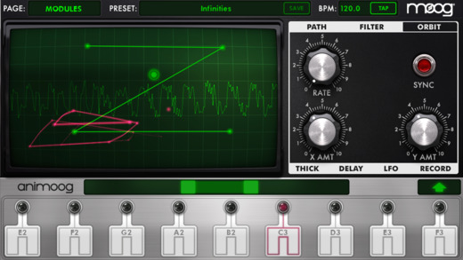 Animoog For iPhone Updated With MPE, Bluetooth LE MIDI