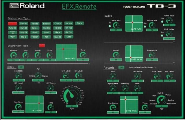 EFX.Remote-roland-tb-3-editor
