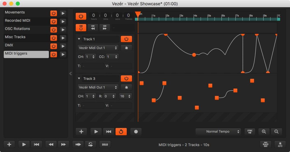 Vezér – A MIDI/OSC/DMX Timeline & Control App For Multimedia Artists