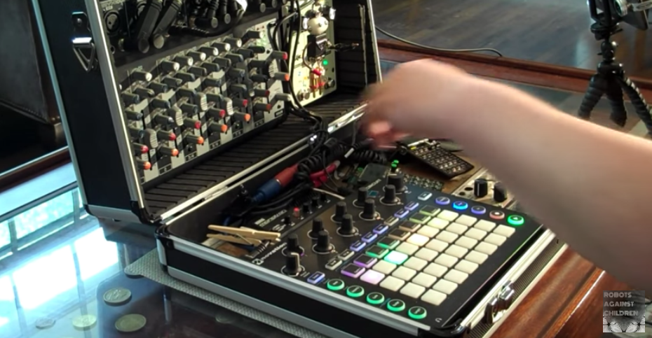 Mobile Battery-Powered Synth Studio With Korg Volca, Novation ... on