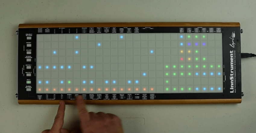 linnstrument update lets you use it as a polyphonic step sequencer synthtopia. Black Bedroom Furniture Sets. Home Design Ideas