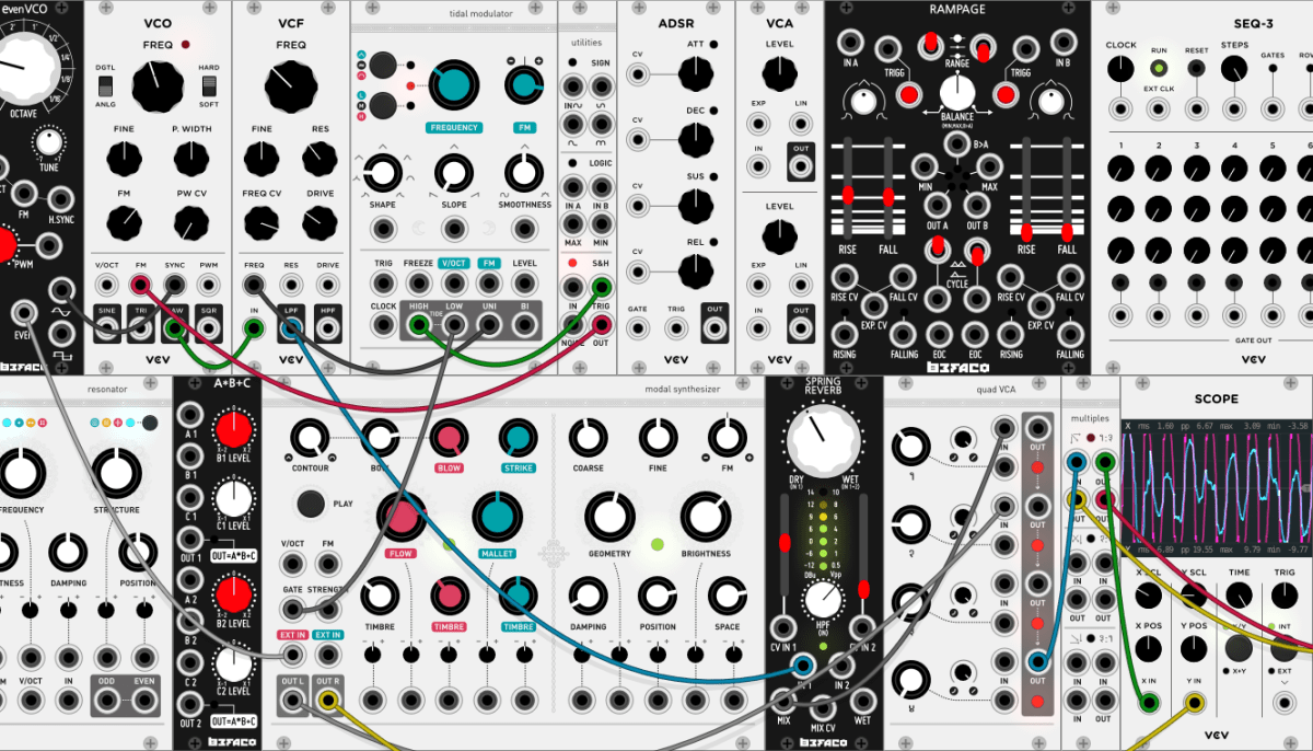 open source virtual eurorack modular synthesizer vcv rack now available synthtopia. Black Bedroom Furniture Sets. Home Design Ideas