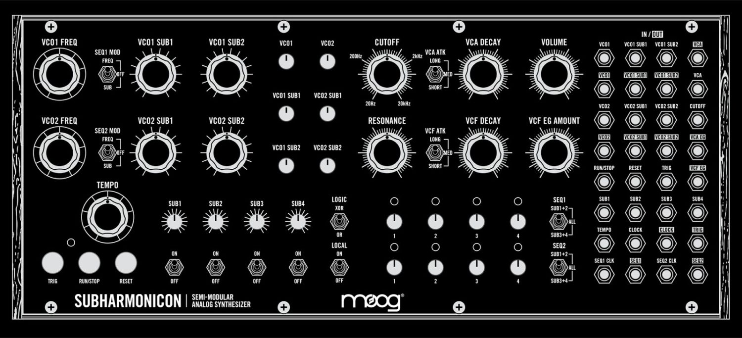 new moog subharmonicon an all in one eurorack synth synthtopia. Black Bedroom Furniture Sets. Home Design Ideas