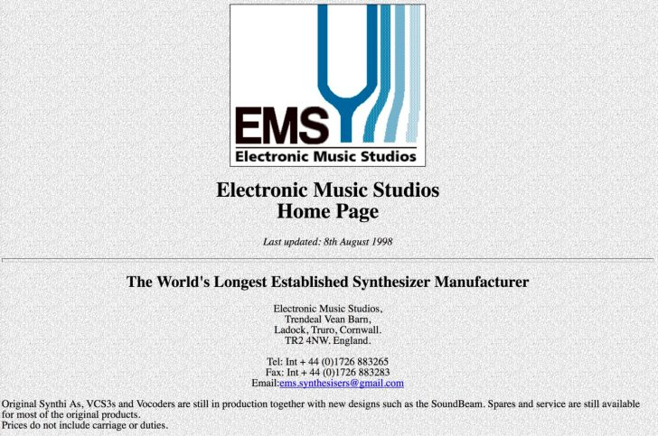 Electronic Music Studios Home Page Last Updated 20 Years Ago On 808 Day
