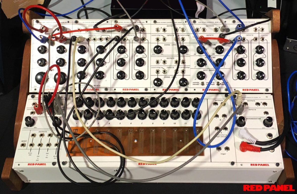 buchla intros red panel eurorack modules based on classic 100 series synthtopia. Black Bedroom Furniture Sets. Home Design Ideas