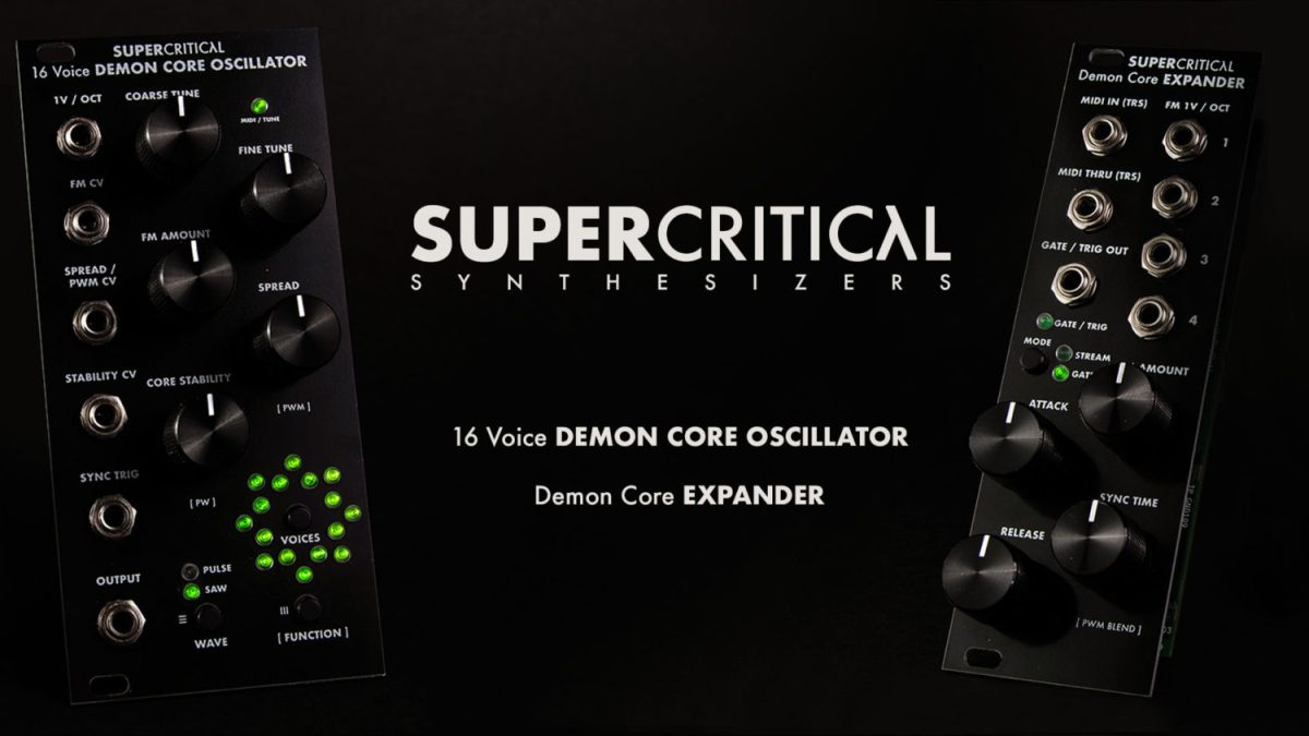 Supercritical Synthesizers Demon Core Oscillator Packs 16 Analog Oscillators Into One Module