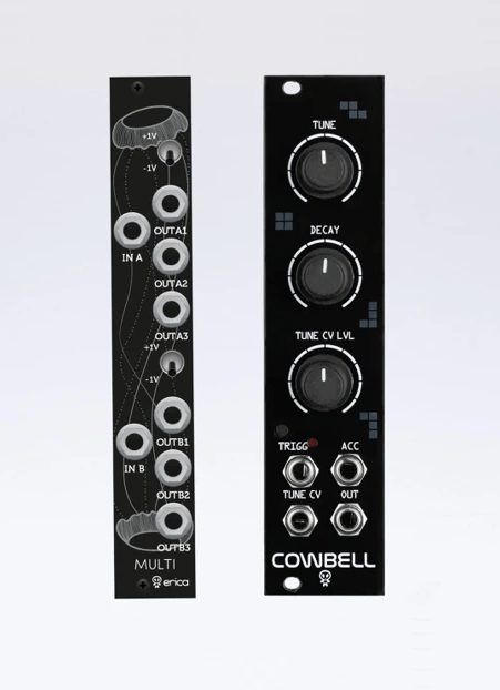 Erica Synths Releases Cowbell and Black Multi Eurorack